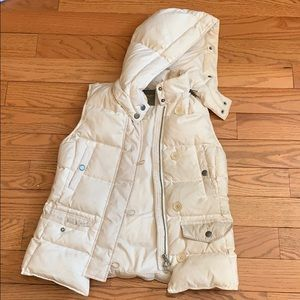 Madewell Off-White Puffer Down Vest SIZE SMALL!!